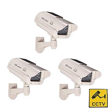 Phot-R 3x accionada solar al aire libre del CCTV imitacion falsa cubierta IR LED