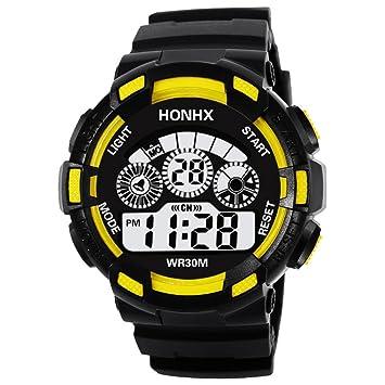 Reloj Personalizado como Regalo Niños a Prueba de Agua LED Digital Reloj Deportivo Fecha de Alarma para niños Reloj de Regalo: Amazon.es: Deportes y aire ...