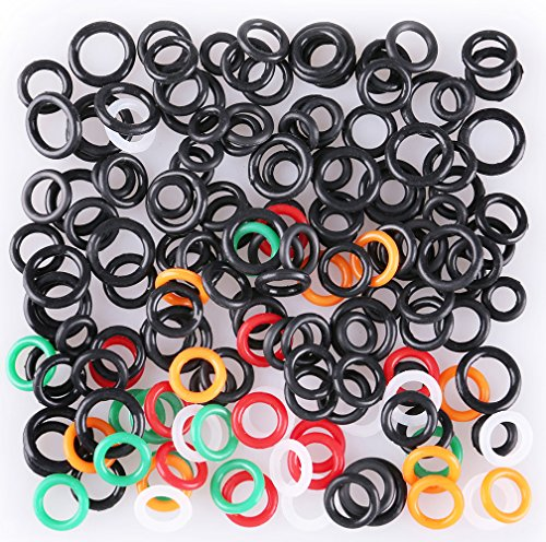 LotFancy 150PCS Wacky Worm O-Rings for Soft Stickbaits, Fits 3