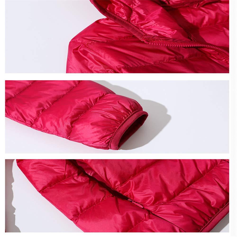 x8jdieu3 Doudoune Hiver Femme légère Version coréenne de la Chemise Chaude décontractée de Grande Taille Coupe Slim à Capuche Rose Red