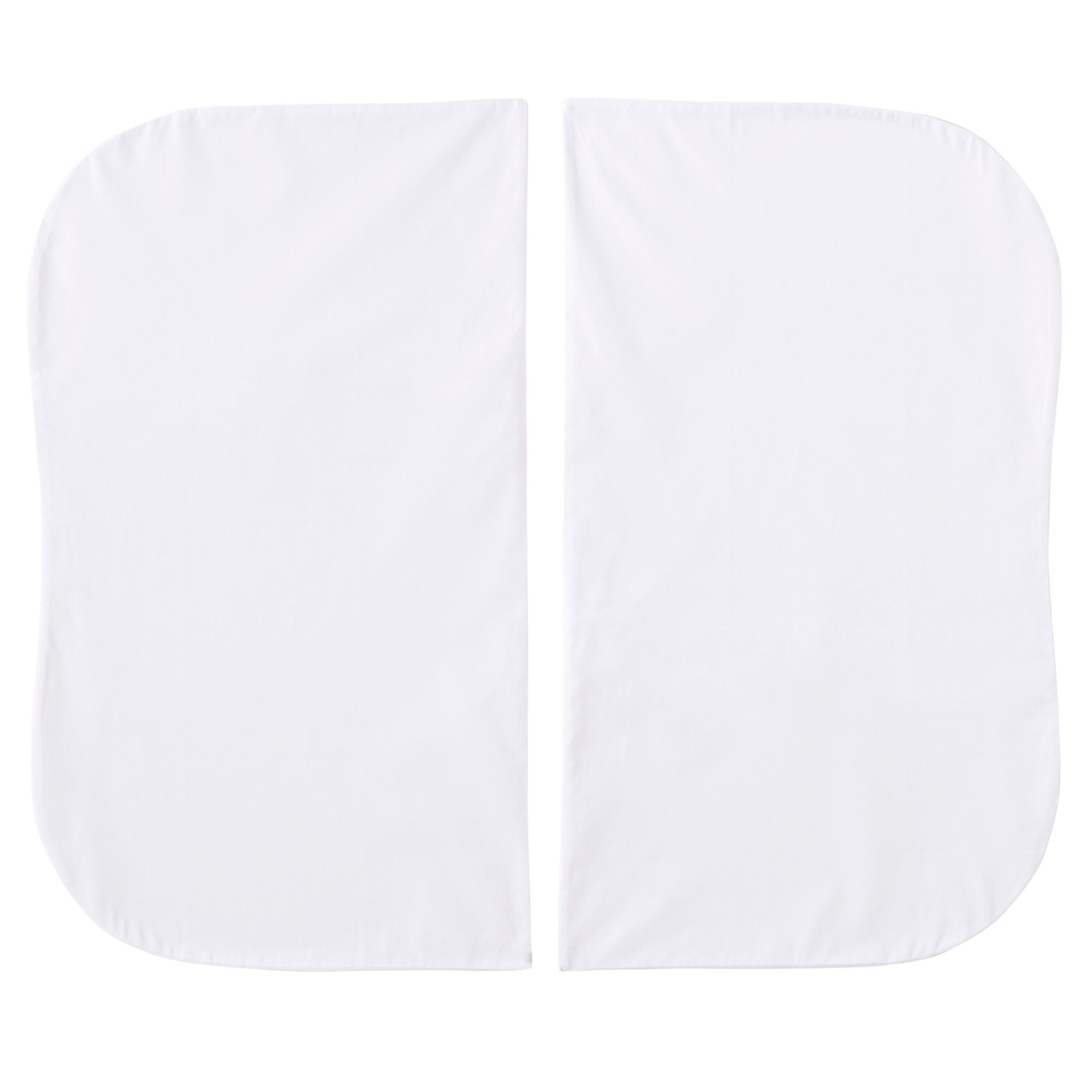 HALO Bassinest Twin Sleeper Fitted Sheets - 2-Pack - 100% Cotton, White