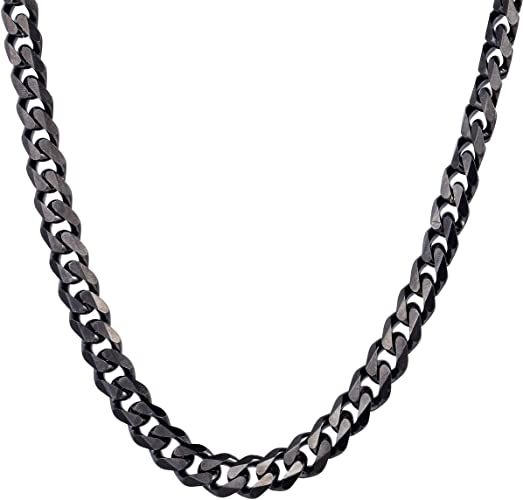 3//4//5mm Men/'s Women/'s Chain Box Link Silver Tone Stainless Steel Necklace