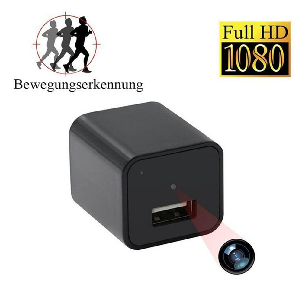 sansnail Mini cámara 1080P HD cámara oculta Mini cámara de vigilancia, pequeños Portátiles USB de Cargador unidad, movimiento descubrir Vigilancia con 32 GB ...
