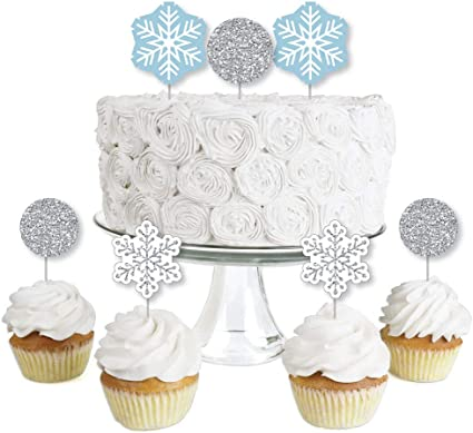 Amazon Com Big Dot Of Happiness Winter Wonderland Dessert