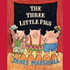 The Three Little Pigs Audiobook by James Marshall Narrated by Fritz Weaver