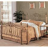 Coaster Home Furnishings  Sydney Modern Traditional Hand Brushed Metal Bed - Queen - Antique Brushed Gold (Headboard & Footboard Only)