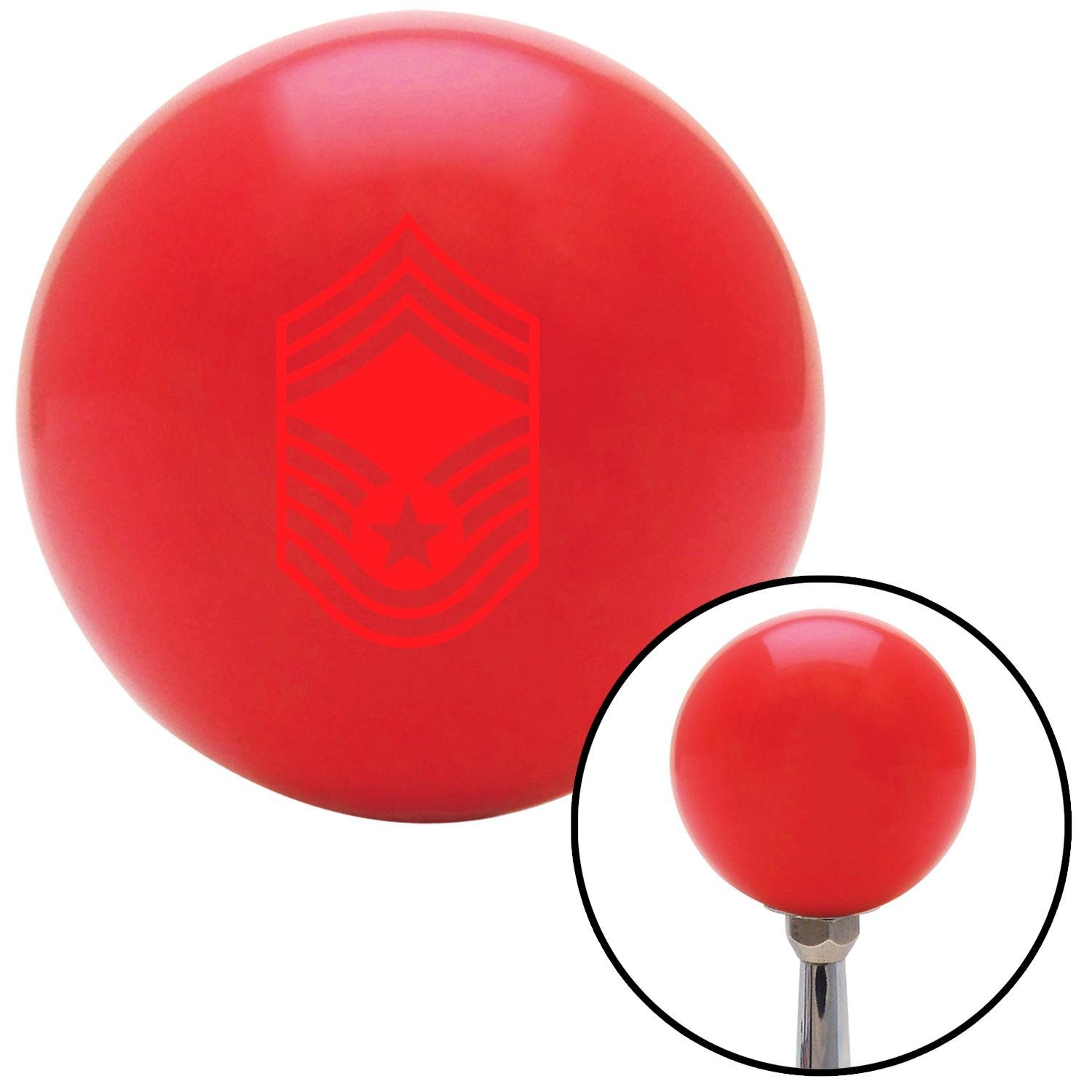 American Shifter 243723 Red Flame Metal Flake Shift Knob with M16 x 1.5 Insert White and Blue Pinstripe 1