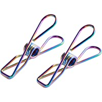 ysEco 316 Marine Grade Rainbow Stainless Steel Pegs (Pack of 20) Metal Clips for Clothes, Laundry