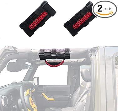 87-16 Jeep Wrangler JK TJ YJ Deluxe Extreme Premium Black Roll Bar Grab Handle