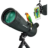 Sinstner 25-75 X 75 HD Spotting Scope with Cell Phone Adapter for Target Shooting Stargazing Bird Watching Hunting Wildlife