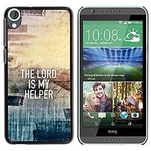 PC/Aluminum Funda Carcasa protectora para HTC Desire 820 BIBLE The Lord Is My Helper / JUSTGO PHONE PROTECTOR