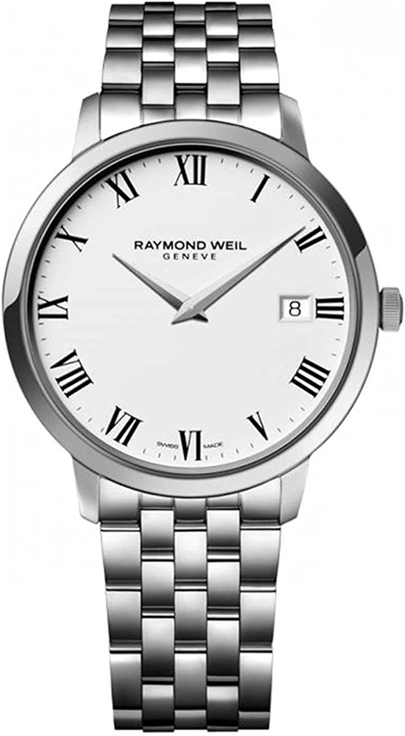 Raymond Weil Toccata Swiss-Quartz Watch with Stainless-Steel Strap, Silver, 20 (Model: 5588-ST-00300)