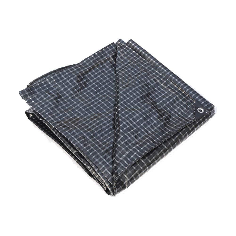 Grid 4x4M BÂche de prougeection pratique Toile imperméable à l'eau de bÂche imperméable à l'eau de prougeection solaire de bÂche de prougeection en tissu de camion marine de polyester et de grille anti-vent lé