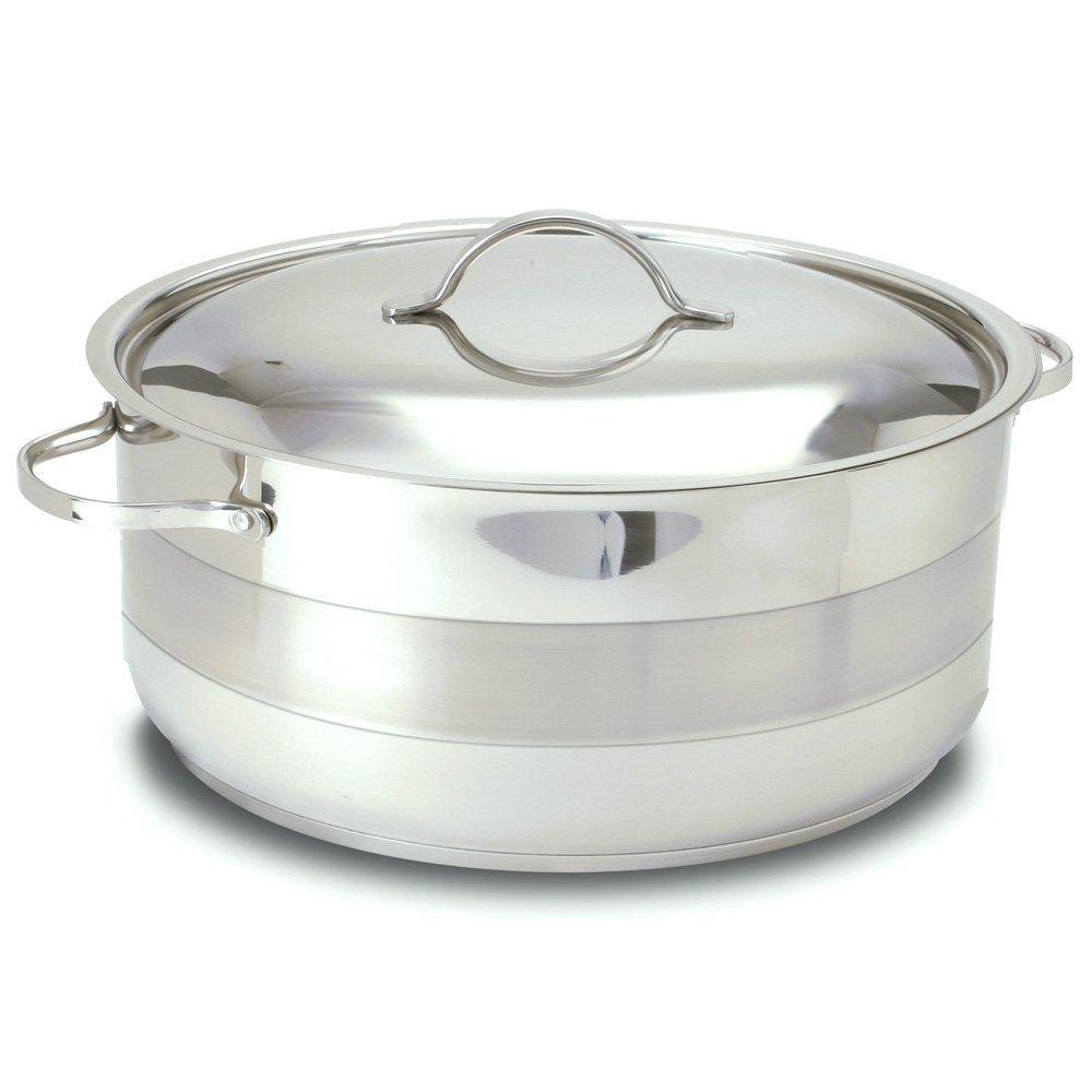 Cuisinox ポット-C30-RD グルメ カバー ロンドー 焙煎 鍋 、 7.0 リットル/8-クォート、 ステンレス 鋼 B001RVQW9E