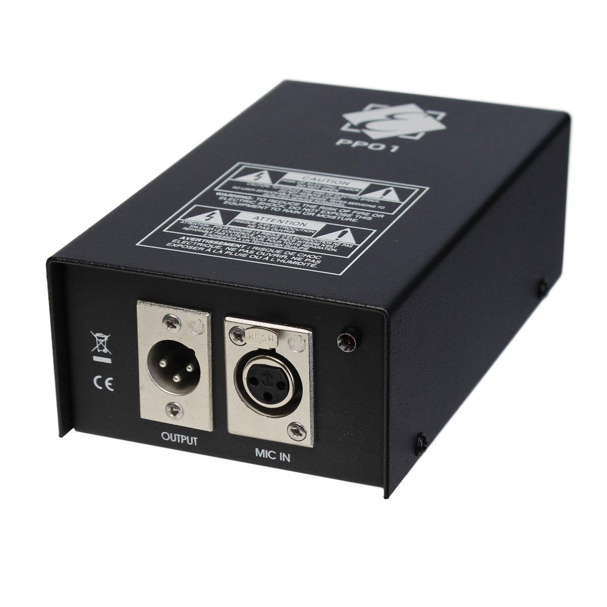 EAGLETONE PP01+ alimentation fantôme 48V Adaptateur compact PP01 + 48V
