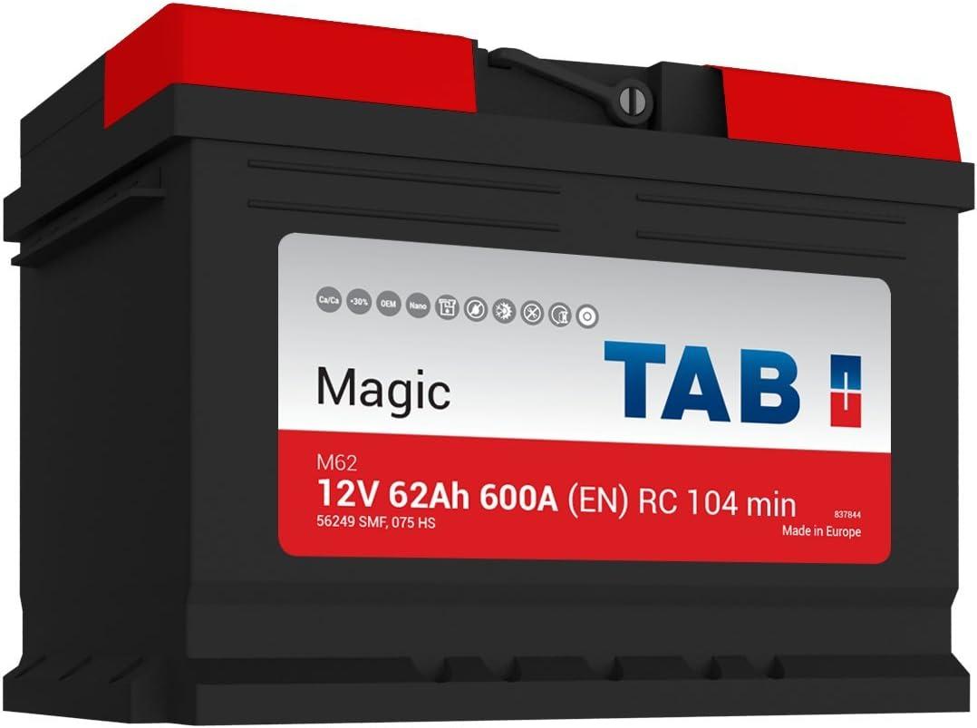 EN TAB Batterie Voitures Magic Car M62 L2B 12 V 62AH 620 AMPS