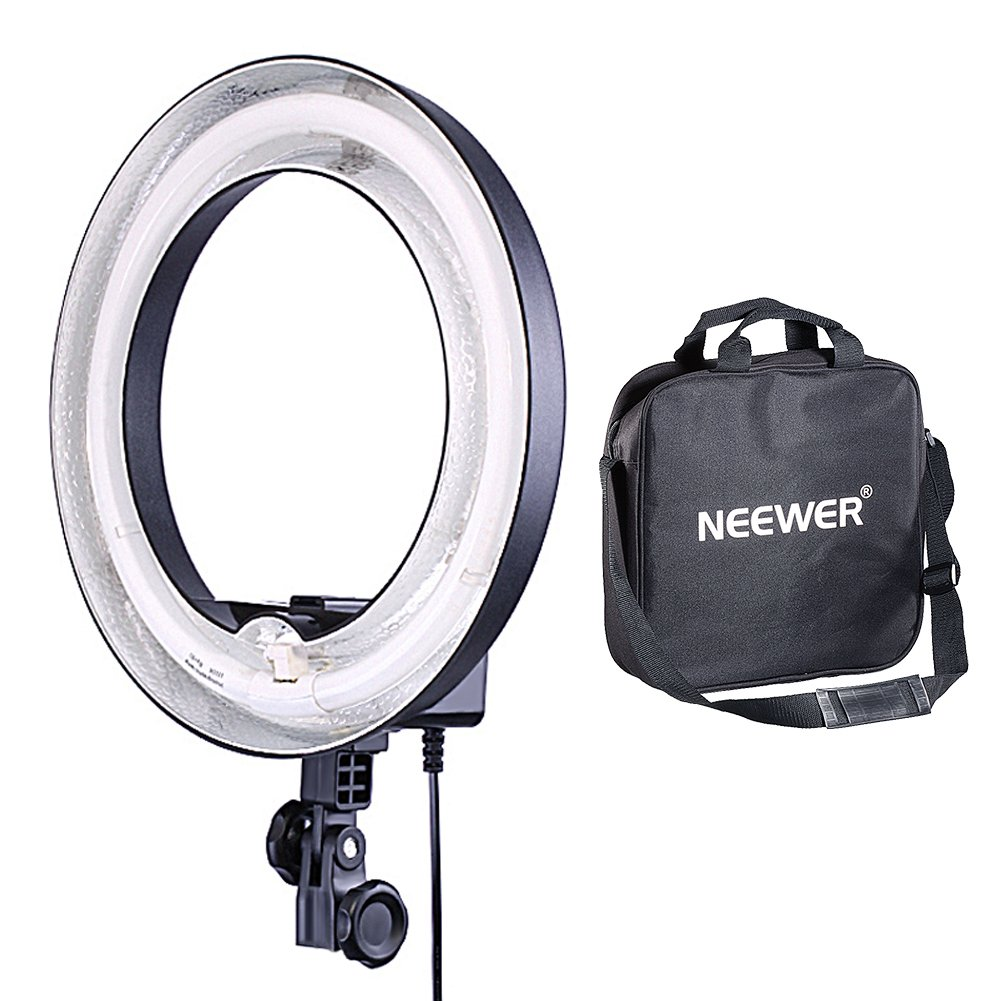 Neewer Camera Photo Dimmable 14 inches/36 centimeters Outer 10 inches/25 centimeters Inner Continuous Lighting Ring Light for Portrait, Photography YouTube Vine Video Shooting, 50W(400W Equivalent)5500K