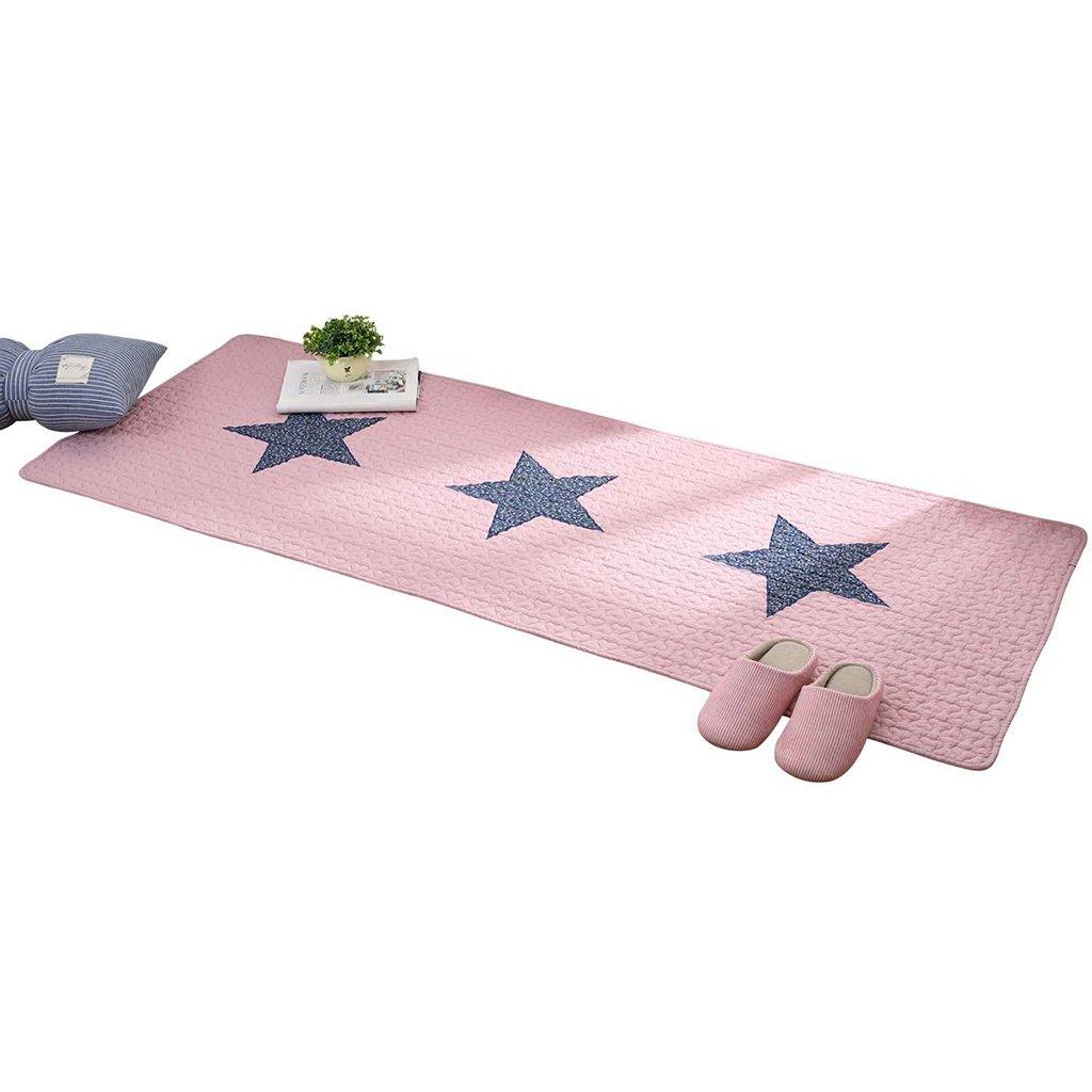 Xi Man Shop alfombra de tela de algodón alfombra Alfombra de noche Alfombra de pies Alfombra antideslizante Cojín del dormitorio Lavable en la lavadora Tela de algodón para bebés
