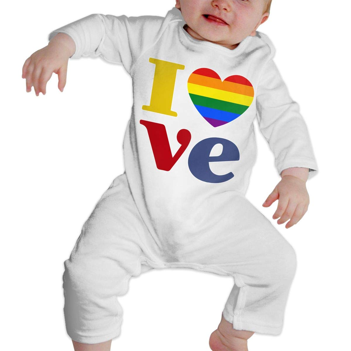 Newborn Baby Boys Girls Cotton Long Sleeve LGBT Gay Pride Love-1 Baby Clothes Funny Printed Romper Clothes