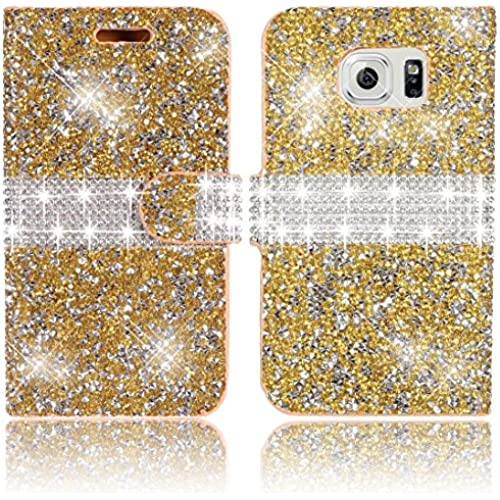Samsung Galaxy S7 Wallet Case,Vandot Premium 3D Diamond Bling Shining Sparkle Crystal Rhinstone Case Cover PU leather Magnetic Flip Stand Anti-scratch Sales