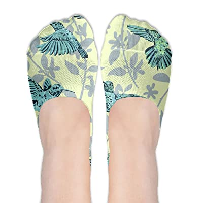 Blue Bird Tree Female Polyester Cotton Socks Women Boat Socks Thin Casual Socks Low Cut Socks