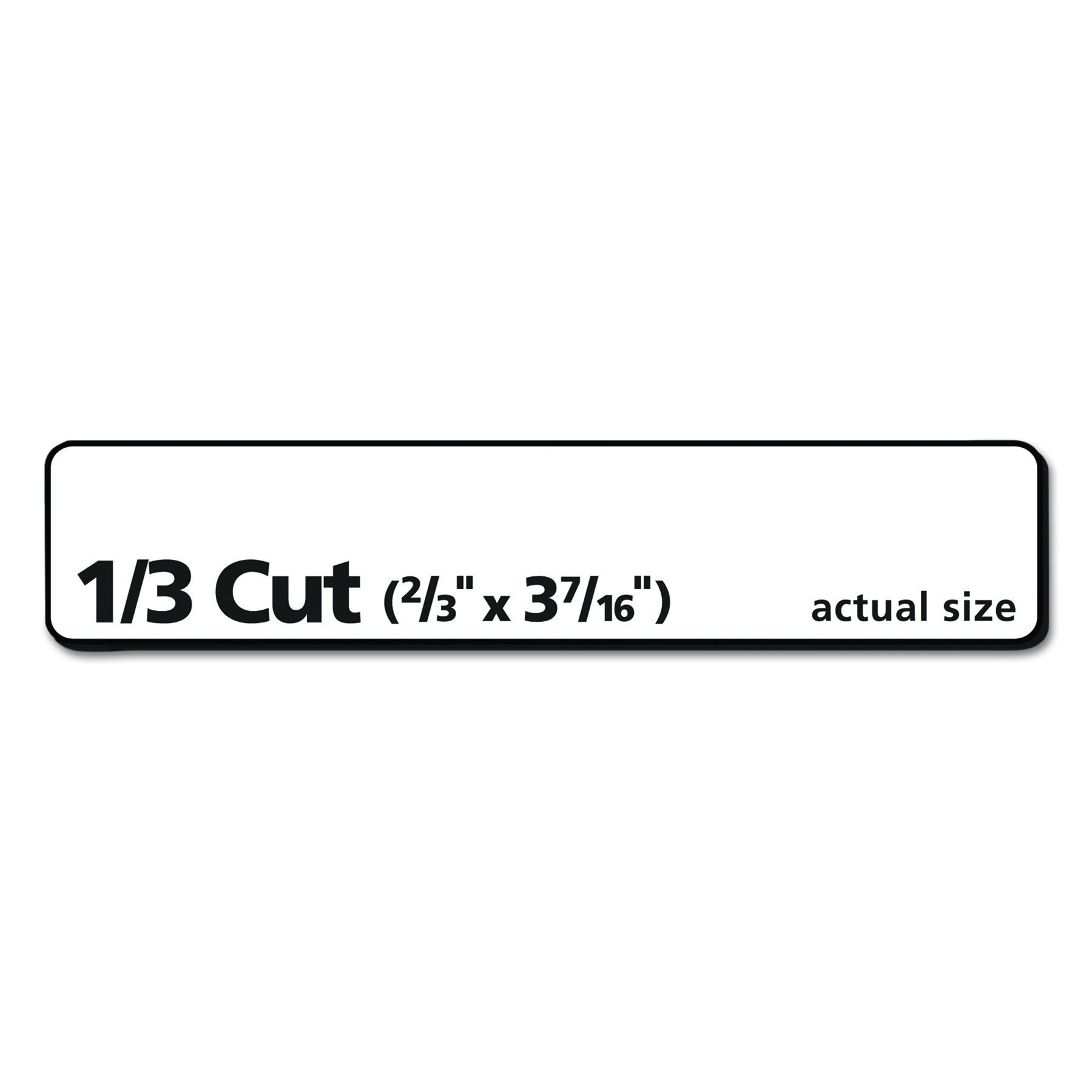 Avery Removable White File Folder Labels, 750 Pack (8066) - 8066 ...
