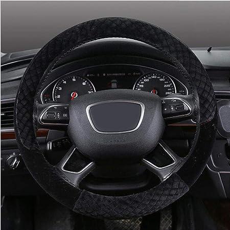 Zxhteering Wheel Cover Wh Auto Lenker Universal Lenkradbezug Plüsch Mode Lässig Einfach Warm 38cm Color Black Auto