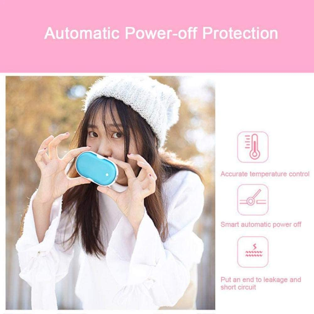 WLHCJJ USB Hand Warmers Charging Treasure Waterless Mobile Power Rechargeable Reusable 5200mah Suitable for Outdoor Camping Mountain-A E