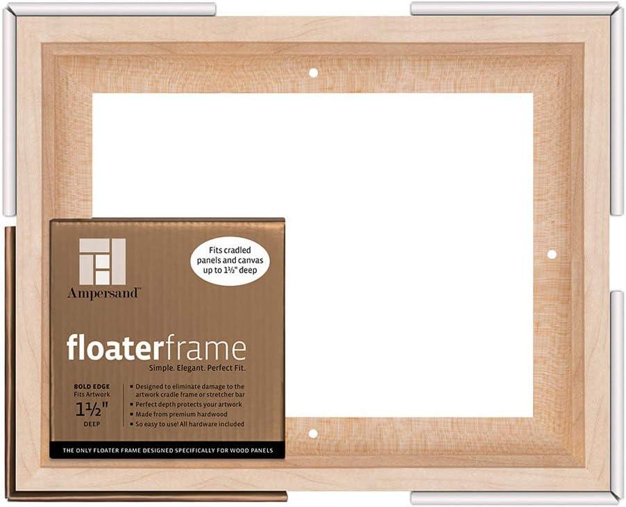 Black Ampersand Floaterframe for Wood Panels FBOLD150808B 1.5 Inch Depth 8X8 Inch Bold
