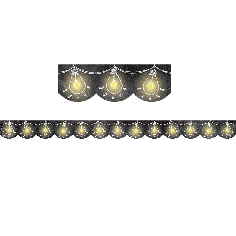 Creative Teaching Press CTP0231BN Chalk It Up! Lightbulbs Border, 35' Per Pack, 6 Packs