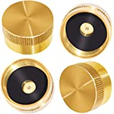 Joywayus 4Pcs Solid Brass Refill Propane Bottle Cap Universal for All 1 LB Gas Tank Cylinder Sealed Protect Cap
