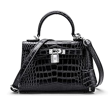 Amazon.com  Normia Rita Women Leather Mini Clutch Bag with Crocodile Pattern  Ladies Satchel Tote Purse Crossbody Shoulder Bag  Shoes f0371ce9c3afd