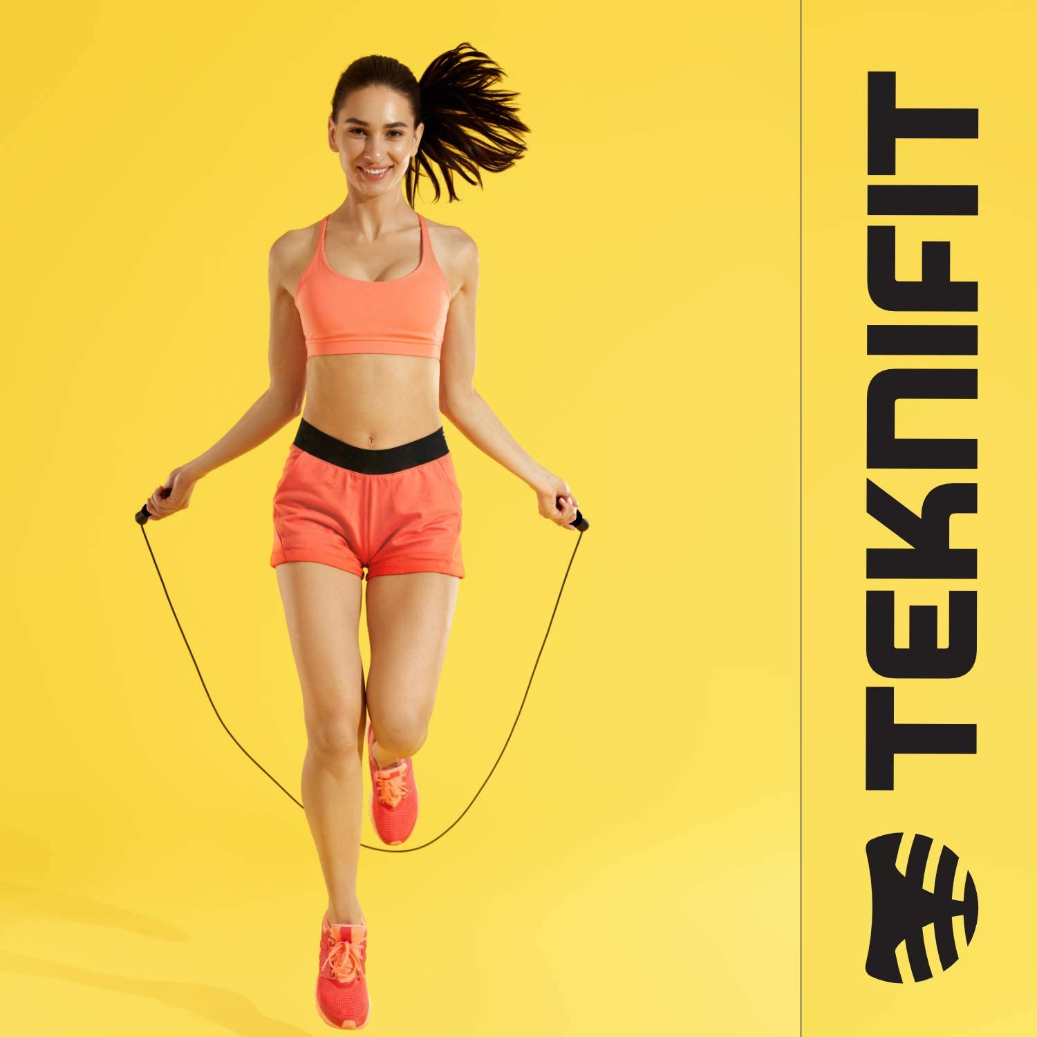 Teknifit Skipping Rope Fully Adjustable High Speed Jump Rope for Ultimate Fat Burning Cardio