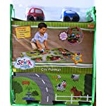 Spark City Playmat Puzzle Rug (8Pcs) Great For Playing With Cars and Toys - Play, Learn and Have Fun Safely - Kids Baby, Children Educational Road Traffic Play Mat, For Bedroom Play Room