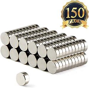 FINDMAG 150 PCS Refrigerator Magnets Premium Brushed Nickel Fridge Magnets,Office Magnets,Whiteboard Magnets