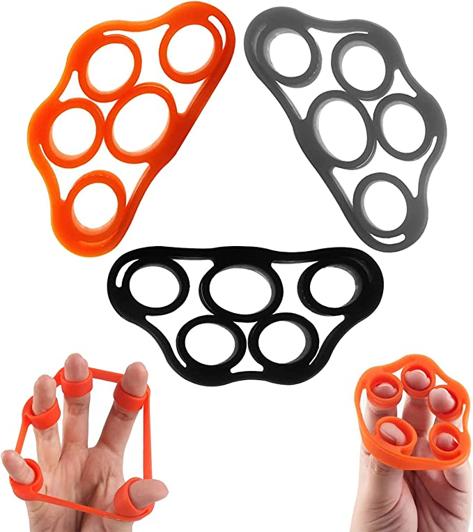 6 Pcs 6 Hand Grip Strengthener Finger Stretcher Strength Trainer Exercise