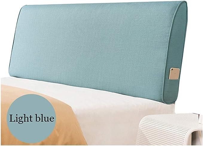 PENGFEI Cabecero Almohada Tapizado Cama Cabezal Estuche Blando Soporte Lumbar Relleno De Esponja Lavable, con/Sin Cabecera Standard, 5 Colores, 4 Tallas (Color : Light Blue-B, Tamaño : 120CM): Amazon.es: Hogar