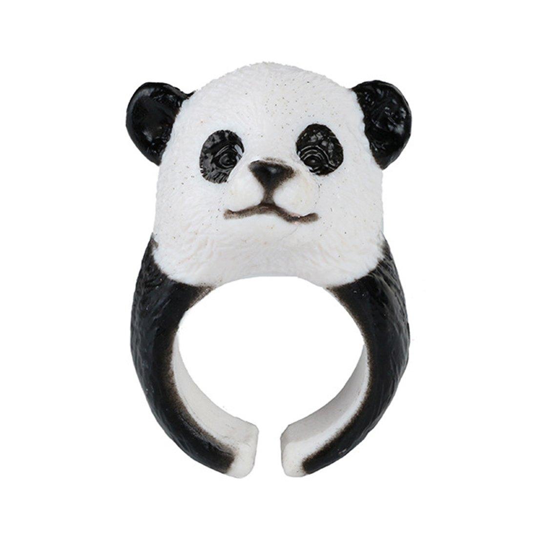 Caimeytie Bijoux Enfant Bague Panda Réglable 3D Animal Personnalisé Créatif T49-51.5