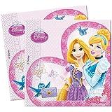 Serviettes Disney Princess Glamour, 20pièces.