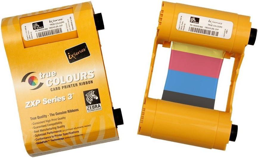 Zebra iX Series Black Ribbon 1000 Images for ZXP Series 1 Card Printer