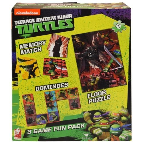 Teenage Mutant Ninja Turtles 3 in 1 Activity Game Box ...