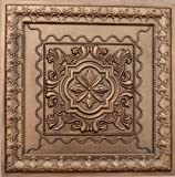 Drop Ceiling Tile Glue & Grid #24 Faux Antique Copper Plastic,by Ceilingtilesbyus.inc Cheap, 24''x 24'' PVC 3 Dimension,depth 1'' Glue On,tape on Over Wainscoat, Sheet Rock.pvc.class''A'' Fire Rated.