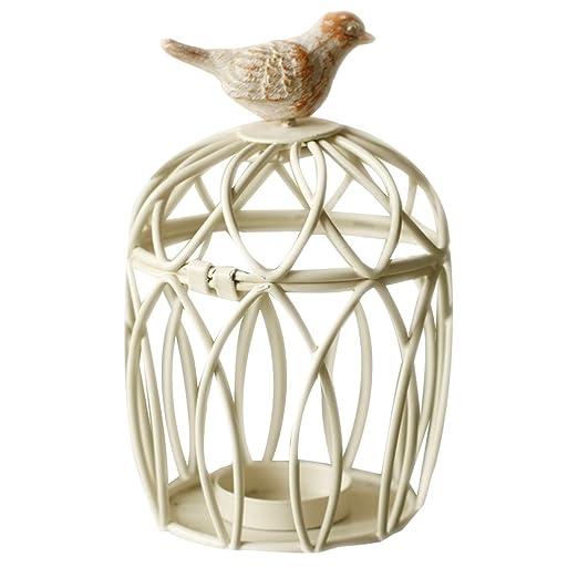 Soporte de Vela aromática de Jaula de pájaros diseño de Lavanda ...