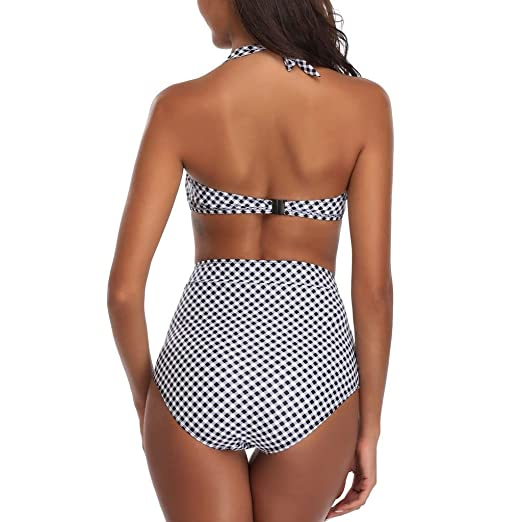 ASL Traje de baño de cintura alta de moda Conjunto de bikini ...