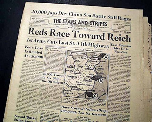 Ww2 Armed Forces - Six (6) WWII 1945 STARS AND STRIPES World War II U.S. Military Old Newspapers THE STARS & STRIPES, the