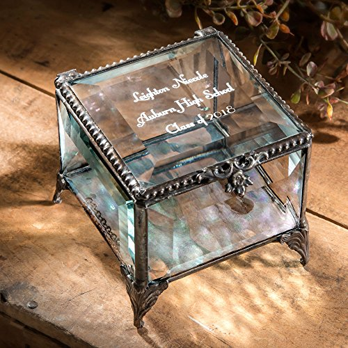 J Devlin Box 326 EB 217-3 Personalized Graduation Keepsake Box Class of 2018 College or High School Grad (Personalized Gift Box)