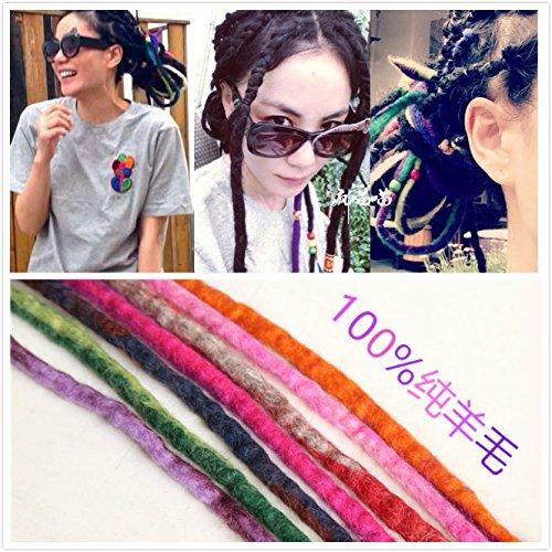 3 Nepal travel headdress hair rope braids Tibetan wool felt reggae dreadlocks hair accessories jewelry for women girl lady