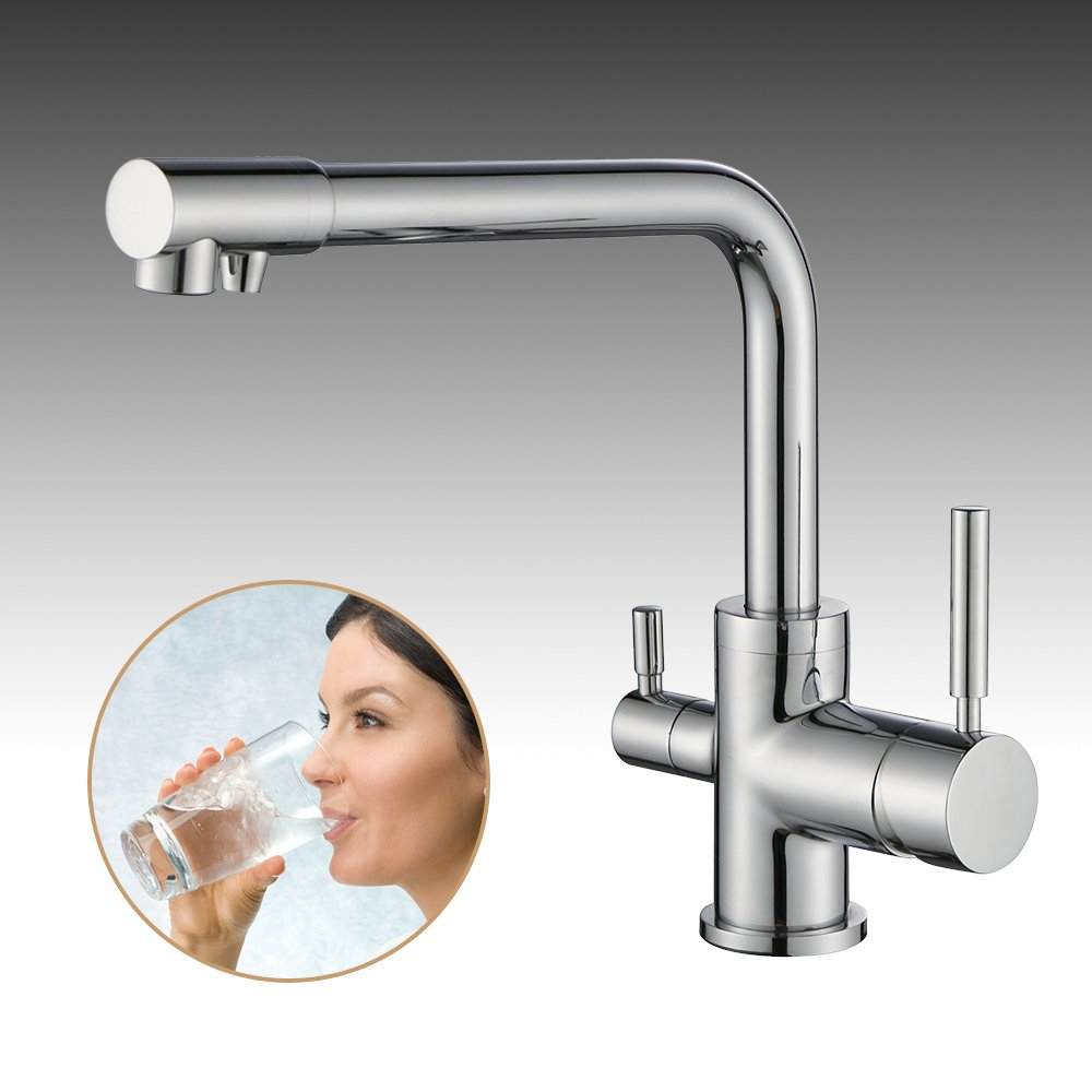 Homelody 3 Wege Wasserhahn für Wasserfilter Armatur Küche ...