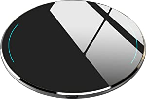 TOZO W1 Wireless Charger Ultra Thin Aviation Aluminum Fast Charging Pad - NO AC Adapter Space Gray