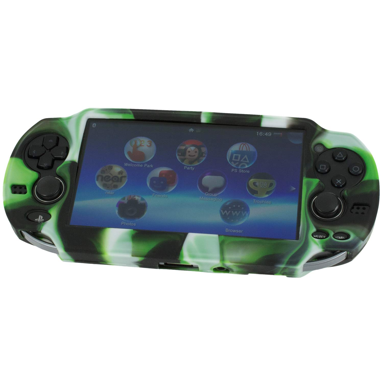 Assecure Pro Camouflage Silicone Gel Skin Protector Cover Protective Camo Rubber Bumper Grip Case for Sony PS Vita (PSP PSV)